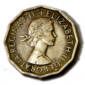 United Kingdom 3 Pence - Elizabeth II Brass 21.8 mm Rare Coin ( 1954-1970 ) . for Collectors Choice