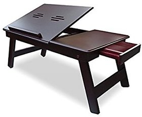 innovative art works Wooden Laptop Table Foldable Laptop Table (Brown)