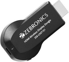 Zebronics Zeb-Cast 101 Hdmi Wireless Display Dongle Comes With Led Indicator Supporting Miracast, Airplay & Dlna