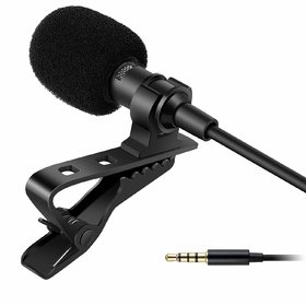 Lazywindow Clip Collar Mic For Mobile Video Recording Digital Noise Cancellation