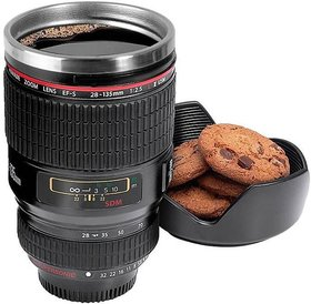 Camera Lens Shaped Tea/ Coffee Mug for Hiking  Camping