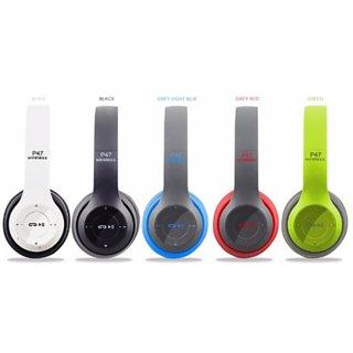 P47 Bluetooth Headphone Wireless Multi Colour with MIC (Multicolor)