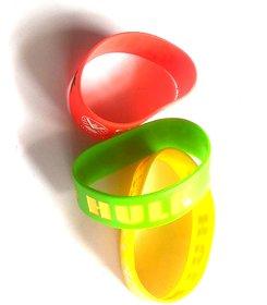 Nawani Hulk Silicone Wrist Band - Set of 3