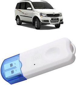 AVMART Car Bluetooth Device with Transmitter  (White, Blue)(ACARBTUSBWDONGLERL01A)