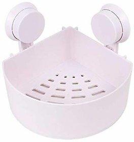 AVMART Kitchen and Bathroom Storage Organiser Triangle Shelf with Suction Cup (TRIANGLESHELVWNSTK2020V)