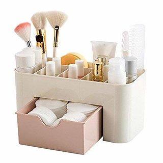 Pack Of 1 Aarvi Plastic Cosmetic ,Makeup Drawer Organizer Multi-Purpose Plastic Drawer Storage Stand