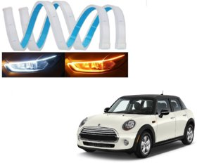 Kozdiko 60 CMS Flexible White and yellow DRL with Yellow indicator Set og 2 Pcs ForMini Cooper