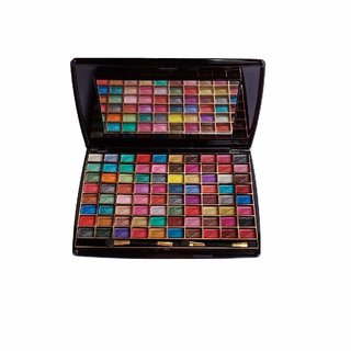 Half N Half 80 Colour Makhmali Eyeshadow Make Up Kit for Professional Make-Up Artist