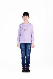 Sweatshirt for Kids Girl, Winter Baby Clothes, Purple Sweatshirt For Kids Girl.