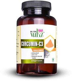 EKTEK VEDAZ CURCUMIN C3 VEG. CAPSULES NATURAL SOURCE OF ANTIOCIDANTS-60 CAPSULES