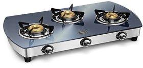 Padmini 3 Burner Glass Cooktop CS 3GT Silvo Auto Ignition