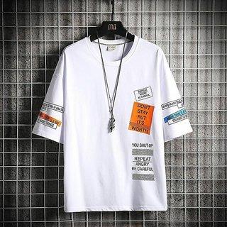 Stylogue Men's Black Digital Print Round Neck T-shirts