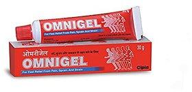 Cipla Omnigel Pain Relief Gel - 30 Grams (Pack Of 5)
