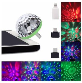 AutoSmart USB Party Lights LED 4 Watt Small Magic Disco Ball Sound Control DJ Stage Light