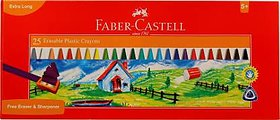 Faber-Castell 25 Erasable Plastic Crayons (110mm)  (Assorted)