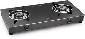 Padmini 2 Burner Glass Cooktop CS 2GT Prima Manual Ignition