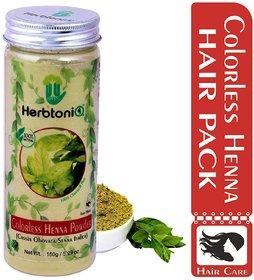 HerbtoniQ 100 Natural Colorless Henna Powder (Cassia Obovata/Senna Italica) For Hair (150 g)