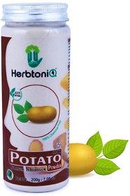 HerbtoniQ 100 Natural Potato Powder For Face Pack (Solanum Tuberosum) 200g