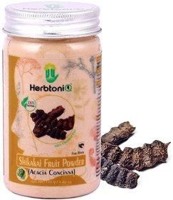 HerbtoniQ 100 Natural Shikakai Fruit Powder (Acacia Concinna) For Hair Pack (125 g)