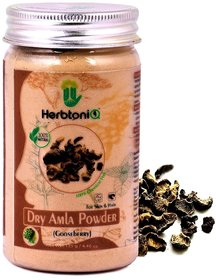 Herbtoniq 100 Natural Dry Amla Powder (Gooseberry) For Hair Pack And Face Pack (125 g)