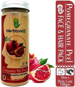 HerbtoniQ 100 Natural Organic Pomegranate Peel Powder (Punica granatum/Anar Peel Powder) 150g For Face Pack, Hair Pack