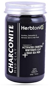 HerbtoniQ Charconite Mud Clay For Face Pack  Hair Pack (200 g)