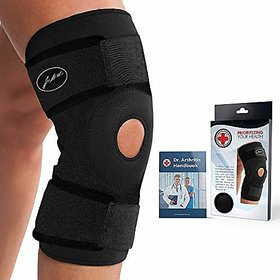 Doctor Developed Premium Copper Lined Knee Support Brace AND DOCTOR WRITTEN HANDBOOK RELIEF  SUPPORT for Knee Injuries