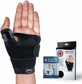 Doctor Developed Thumb Brace/Support (Single)  Doctor Written Handbook, Fully Adjustable to fit Any Thumb