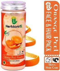 HerbtoniQ 100 Natural Orange Peel Powder (Citrus Reticulate) For Face Pack And Hair Pack (150 g)
