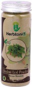 HerbtoniQ 100 Organic Natural Brahmi Leaf Powder (Bacopa Monnieri) For Hair Pack (Pack Of 1,150 g)