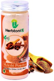 HerbtoniQ 100 Natural Mulethi Powder (Glycyrrhiza Glabra/Licorice Root) For Face Pack And Hair Pack (150 g)