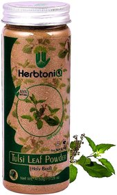 HerbtoniQ 100 Natural Organic Tulsi Leaf Powder (Holy Basil) For Face Pack And Hair Pack (Pack Of 1,150 g)