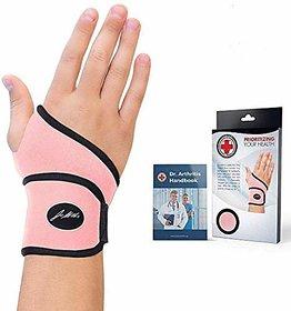 Doctor Developed Premium Ladies Pink Wrist Support/Wrist Strap/Wrist Brace/Hand Support (Single)  Doctor Written Handbo