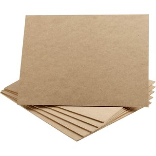 Whitltlewud-Blank Wood Board, MDF Chipboard Sheets for Art  Crafts (9inx12inx0.6in, 6 Pack)