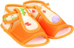 Neska Moda Baby Boys & Girls Sandal Booties For 6 To 9 Months (Orange)