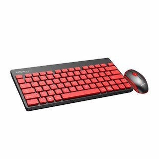 Portronics Key2-A Combo of Multimedia Wireless Keyboard  Mouse,Compact Light-Weight for PCs, Laptops and Smart TV,Black