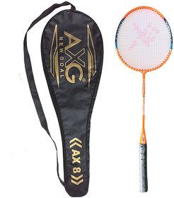AXG NEW GOAL Relentless Badminton Racquet Orange Strung Badminton Racquet  (Pack of 1, 105 g)