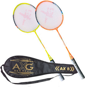 AXG New Goal Unstoppable Badminton Racquets Set of 2