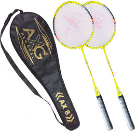 AXG New Goal Unstoppable Badminton Racquets Set of 2 (Green)
