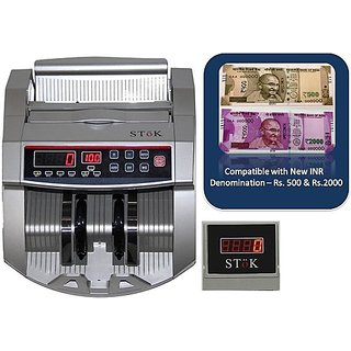 Stok Metallic Silver Note Counting Machine (Counting Speed - 1000 notes/min)