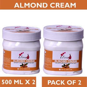 I TOUCH HERBAL ALMOND CREAM 500 ML X 2 (PACK OF 2)