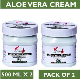 I TOUCH HERBAL ALOE VERA CREAM 500 ML X 2 ( PACK OF 2)