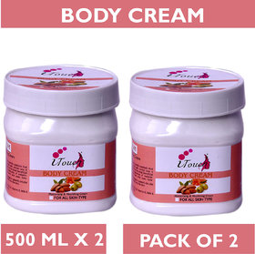 I TOUCH HERBAL BODY CREAM 500 ML X 2 ( PACK OF 2)