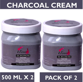 I TOUCH HERBAL CHARCOAL CREAM 500 ML X 2 ( PACK OF 2)