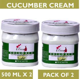 I TOUCH HERBAL CUCUMBER CREAM 500 ML X 2 ( PACK OF 2)