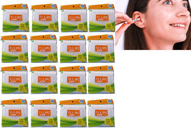 Tulips Cotton Buds Pouch 200 Tips/100 Stems (Pack Of 12)  (12 Units) ear buds cotton swaps 100 piece x 12 packet
