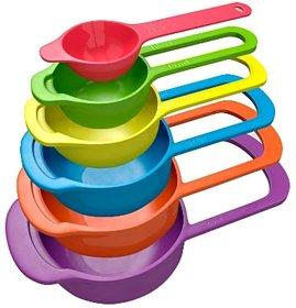 Mugdha Enterprise 6pcs Plastic Measuring Cups and Spoons