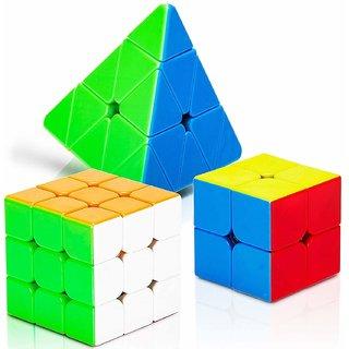 2X2 3x3 and Pyramid Triangle Combo Cube