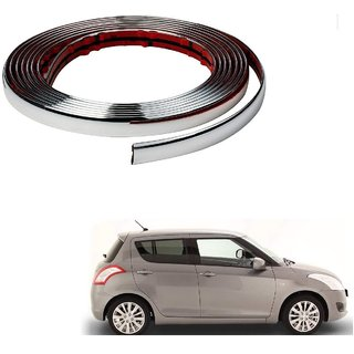 Auto Addict Car Chrome Beading Roll 10MM 20 Mtr For Maruti Suzuki Swift Type-2(20112017)