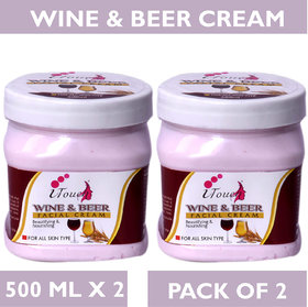 I TOUCH HERBAL WINE & BEER CREAM 500 ML X 2 ( PACK OF 2)